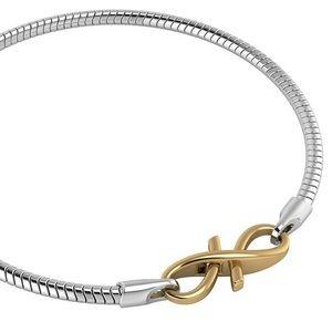 Sterling Silver Bracelet Gold Plated Lock 8 1/4 in